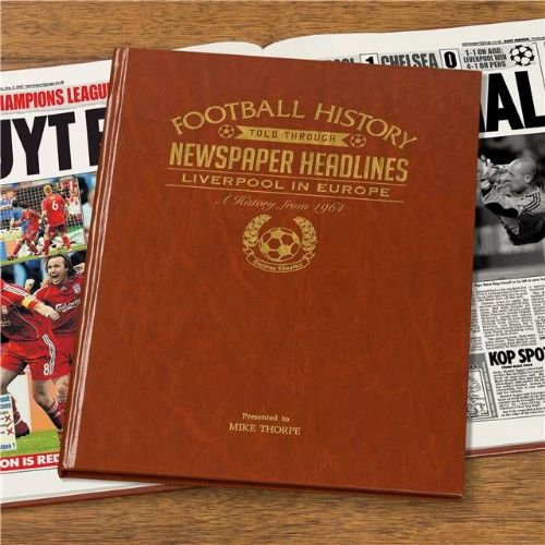 Personalised Liverpool In Europe Football Book